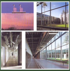 市政标准立面及内部空间设计园林景观设计单层取费厂房图片