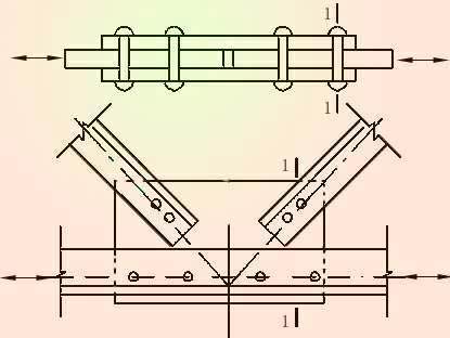 1)焊缝经加工,磨平及无损检验(符合《钢结构工程施工