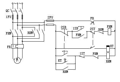 阅读分析题: 1,是一台三相异步电动机能耗制动的控制电路.