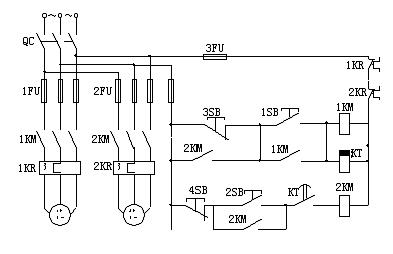 7,是一台三相异步电动机拖动小车在a,b两点间的自动往返控制