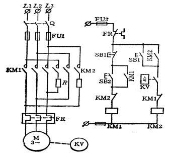 三相异步电动机反接制动控制电路