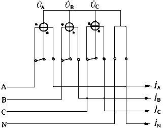二,三相四线有功电能表的正确接线