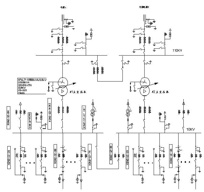 工厂供电系统的主接线