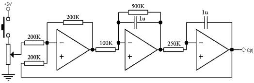 未校正系统的模拟电路图