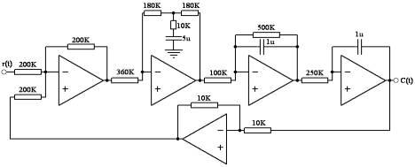 原系统及校正后的模拟电路图:见图3-3及图3-4 &